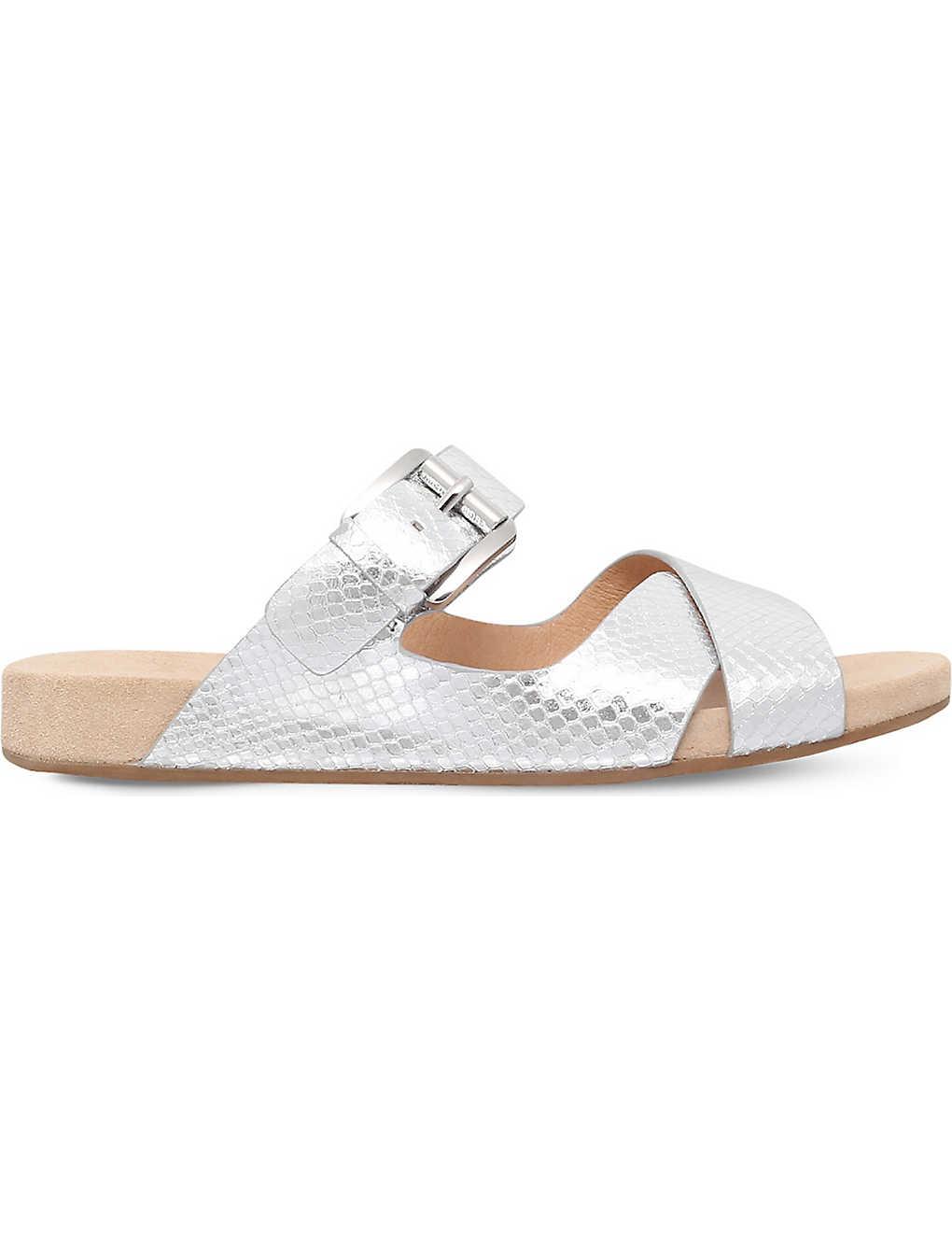 bb16c0aa1 MICHAEL MICHAEL KORS - Sawyer snake-embossed flat sandals ...