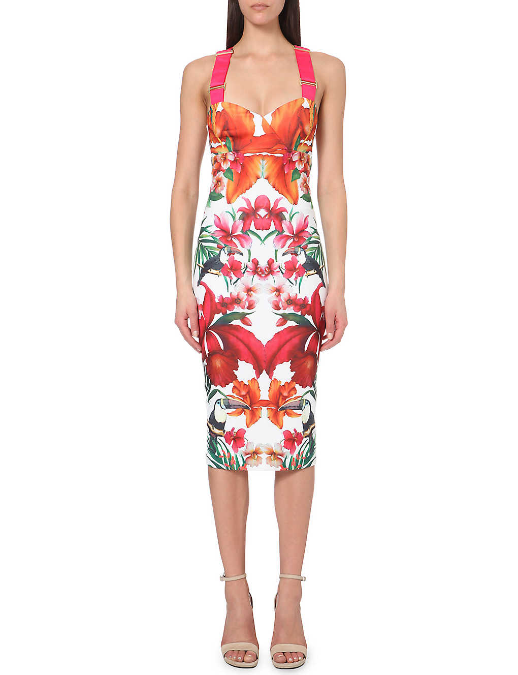 41a5f861198c2 TED BAKER - Jameela toucan-print jersey midi dress