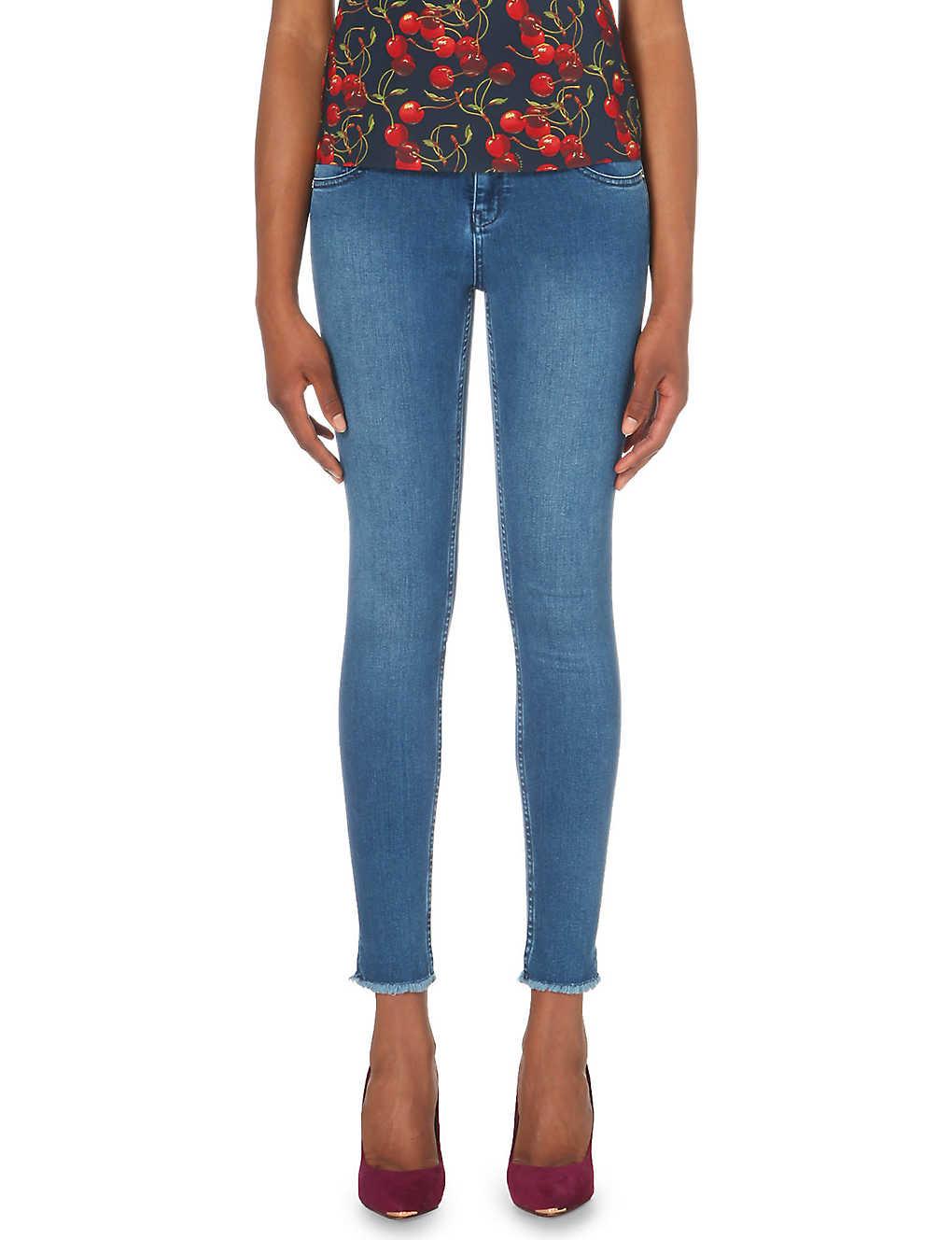 f72e37fff TED BAKER - Shenzii raw hem skinny jeans