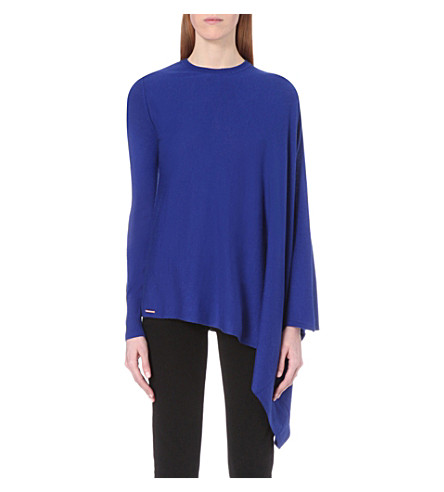 cb49fb4816a4 ... TED BAKER Janila asymmetric draped jumper (Bright+blue. PreviousNext