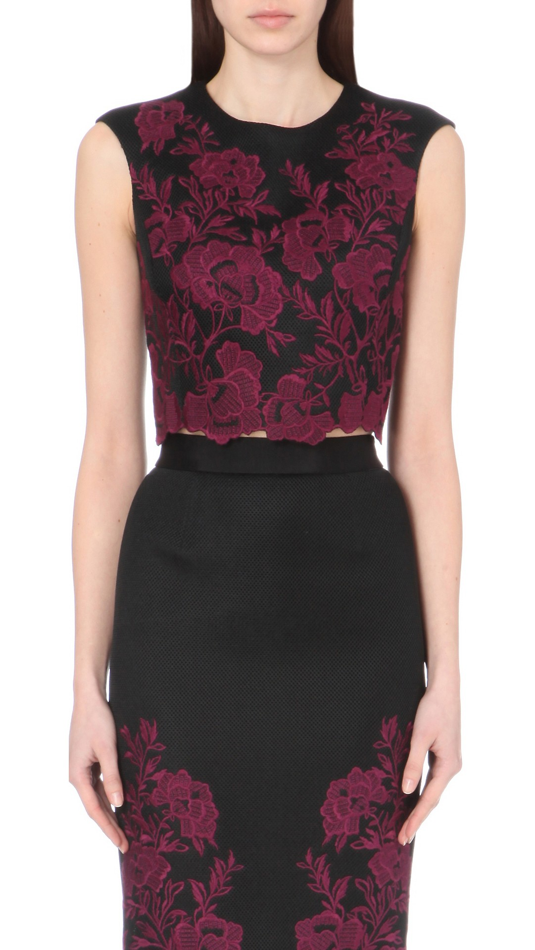 208c2ba740a48 TED BAKER - Vynus lace mesh crop top