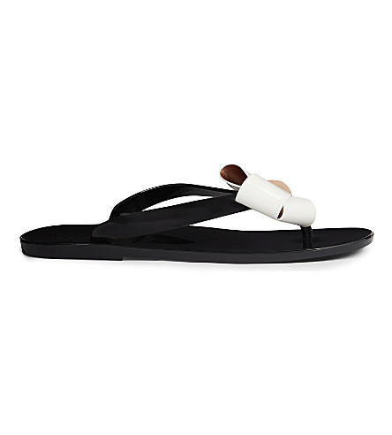 53f269a95951 ... TED BAKER Ettiea jelly bow flip-flops (Black. PreviousNext