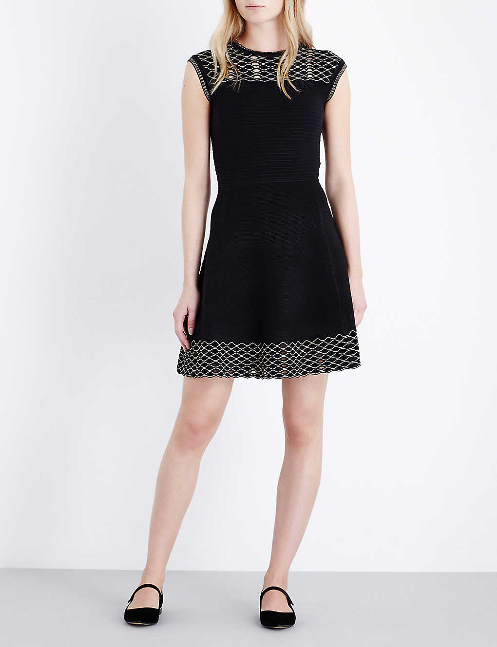 a1033bdab TED BAKER - Metallic-detail knitted dress