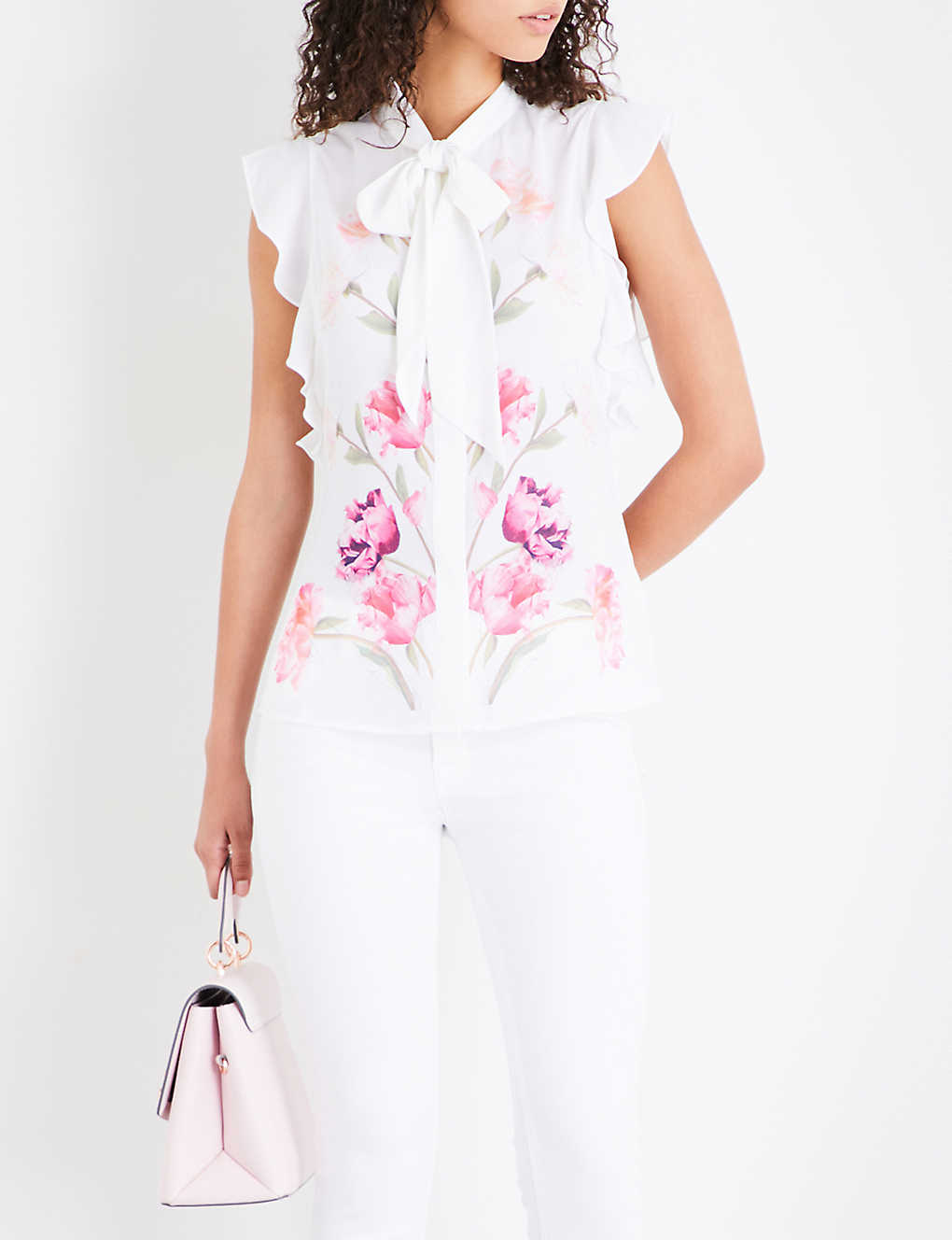 28a2a7111fedf TED BAKER - Brownee Sketchbook Floral-print chiffon top