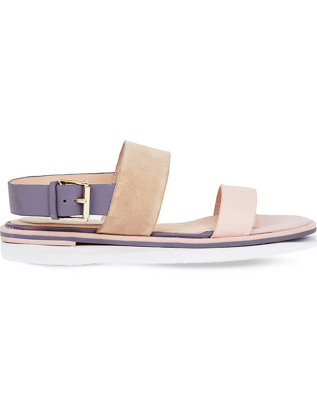 4fe507f30bbf2 TED BAKER - Colour by Numbers danaeii strap detail flat sandals ...