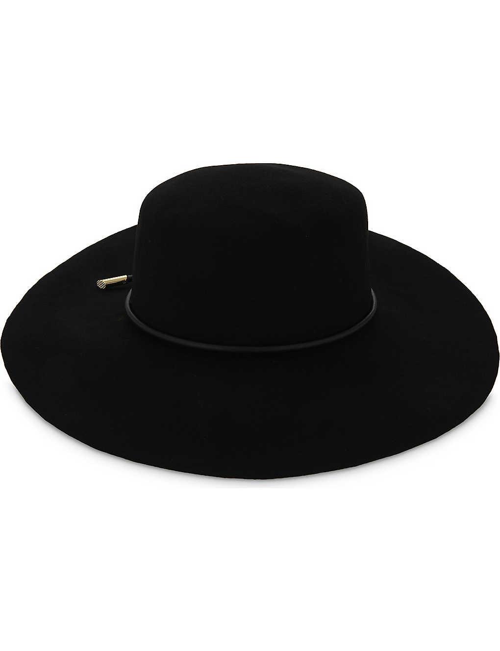 6229b79f0c85b TED BAKER - Alizza rope trim flat-brimmed hat