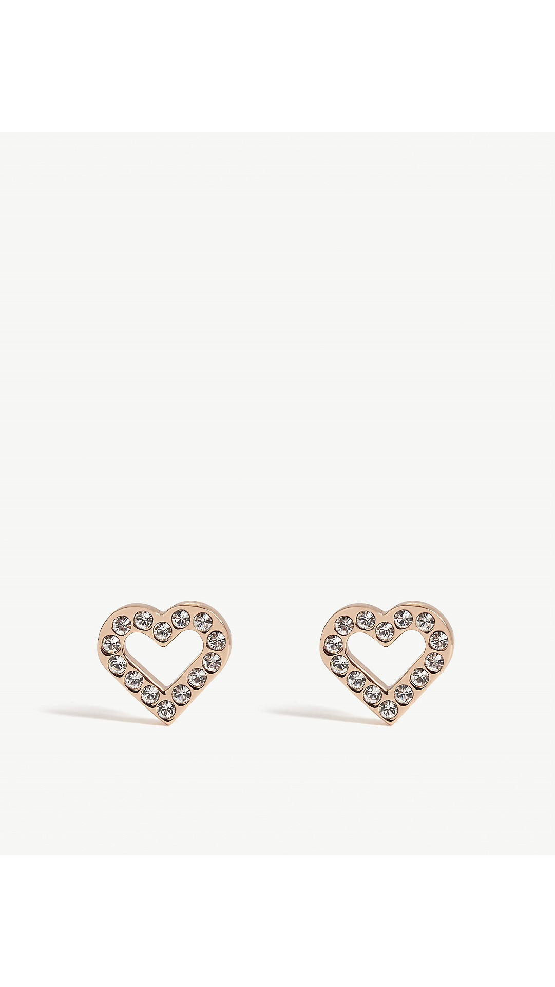 9e3461b788399 TED BAKER - Crystal heart stud earrings
