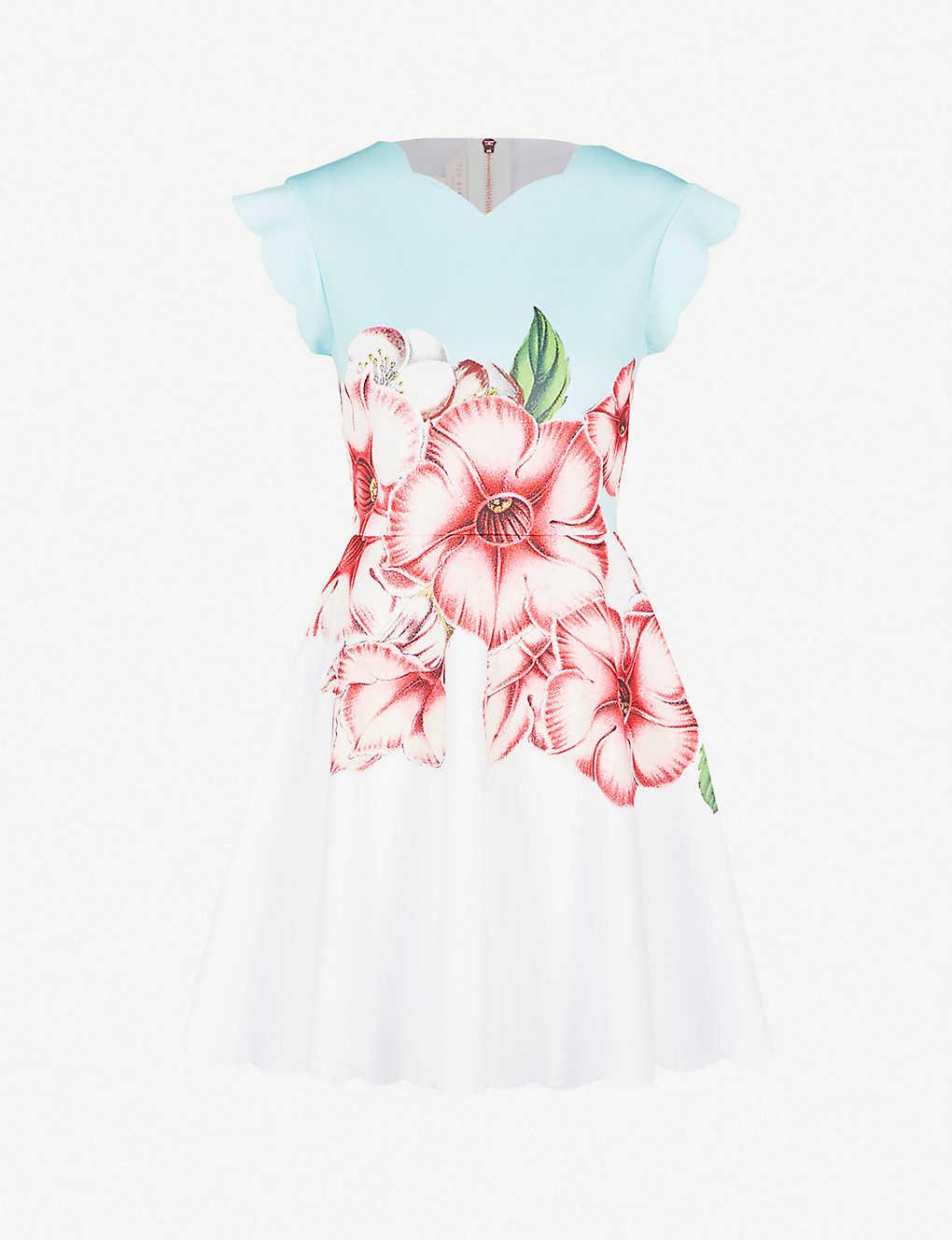 7467b60340 TED BAKER - Maevea nectar-print stretch-jersey dress