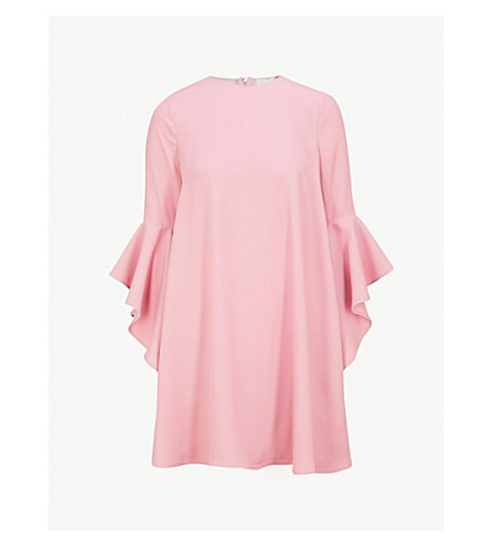 A Line Waterfall Sleeve Dress by Ted Baker