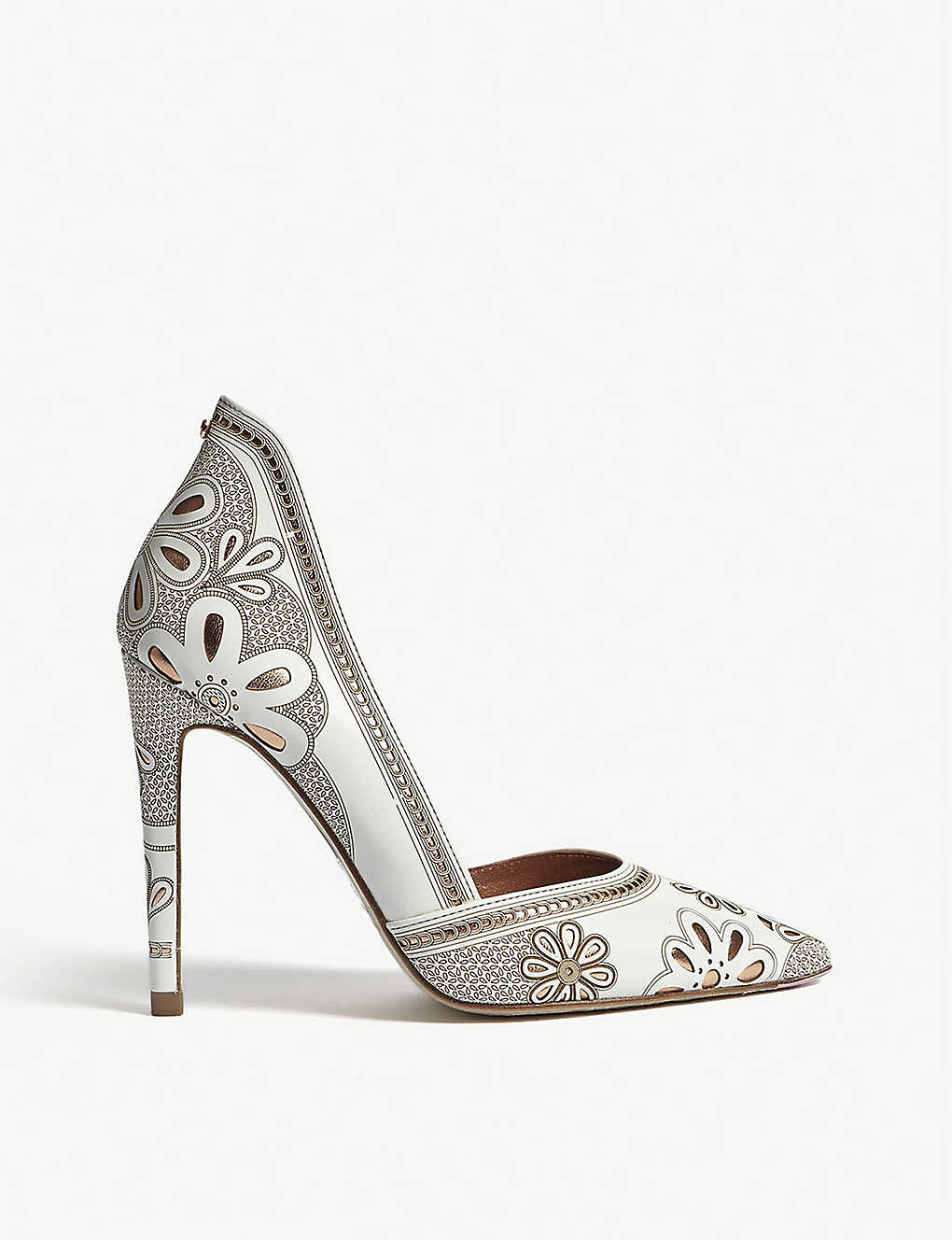 f9640789141912 TED BAKER - Amahri laser-cut floral leather courts