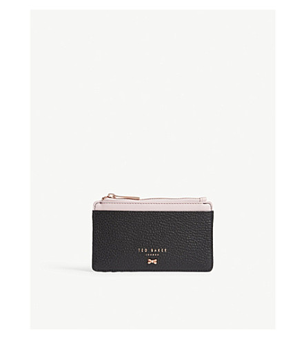 7be6eb1b7aeeb2 ... TED BAKER Lori textured leather card holder (Black. PreviousNext