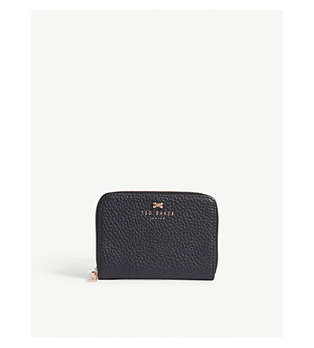 f231330d05691c ... textured leather small zip purse (Black. PreviousNext