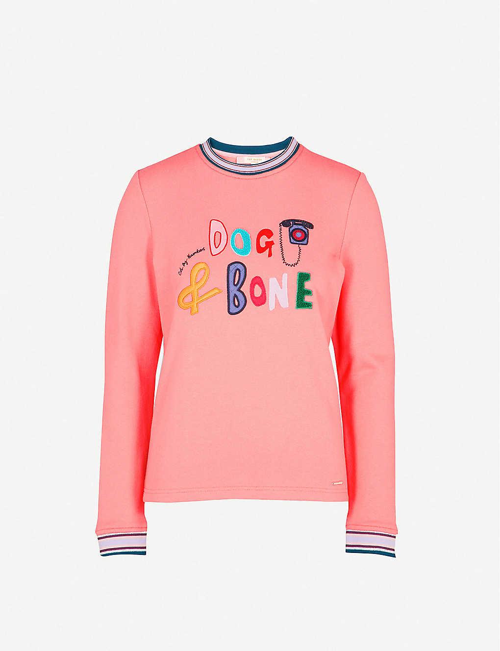 bb874f0a215e TED BAKER - Dog and bone cotton-blend sweatshirt
