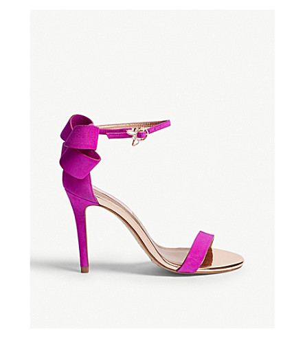 01dd989d1 ... TED BAKER Oversized bow suede sandals (Deep+pink. PreviousNext