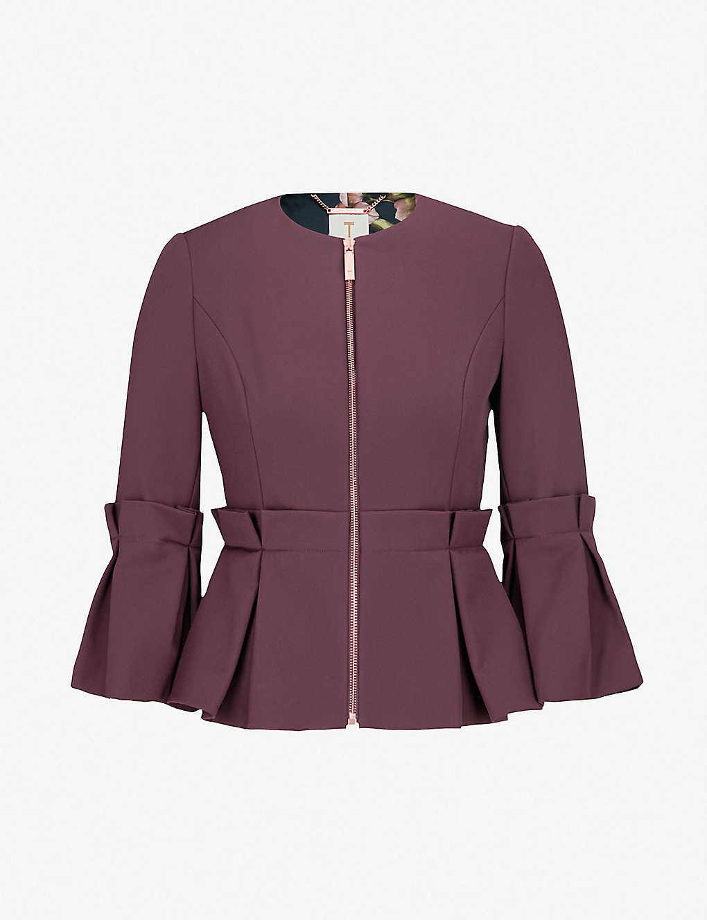 e78361526f74 TED BAKER - Peplum crepe jacket
