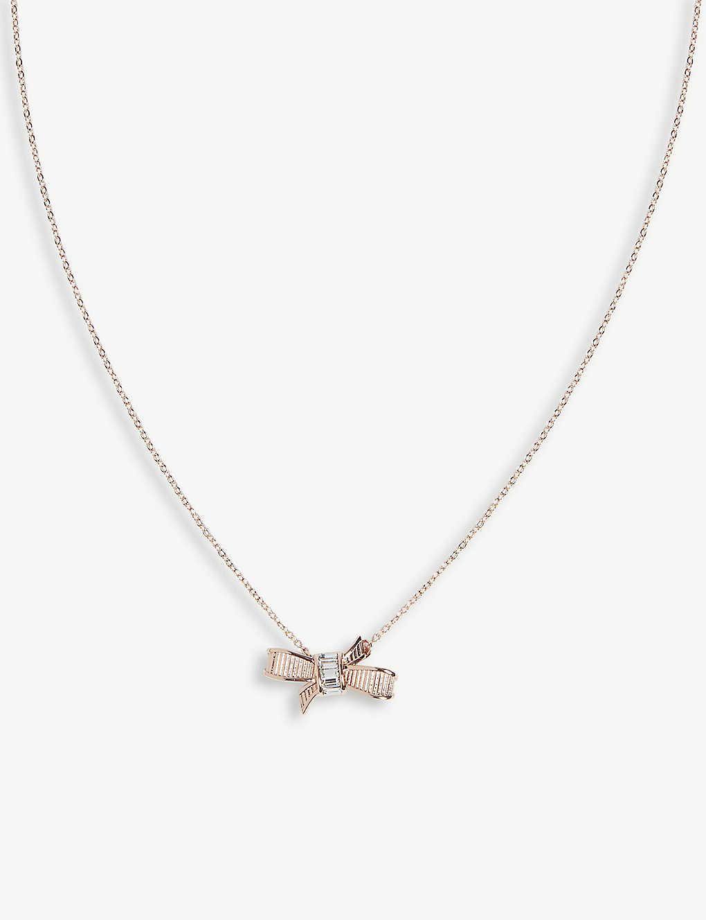 38c6e0ad6d7 TED BAKER - Dameka ribbon bow pendant