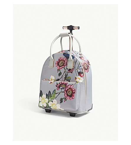372a9c2a33cd6 TED BAKER - Glloria floral nylon two-wheel cabin suitcase ...