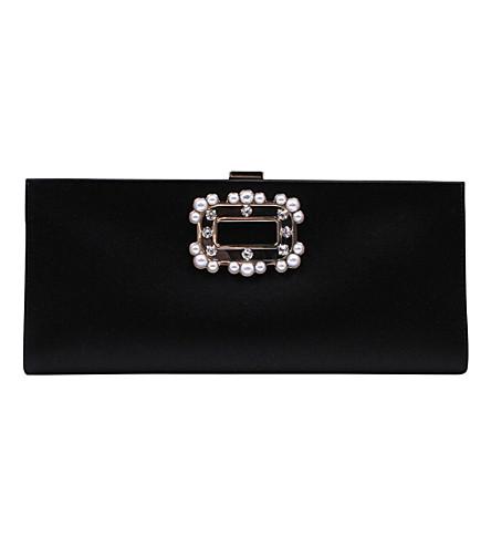 ... ROGER VIVIER Pilgrim strass satin and Swarovski crystal boudoir clutch  (Black. PreviousNext 943a2421ba833