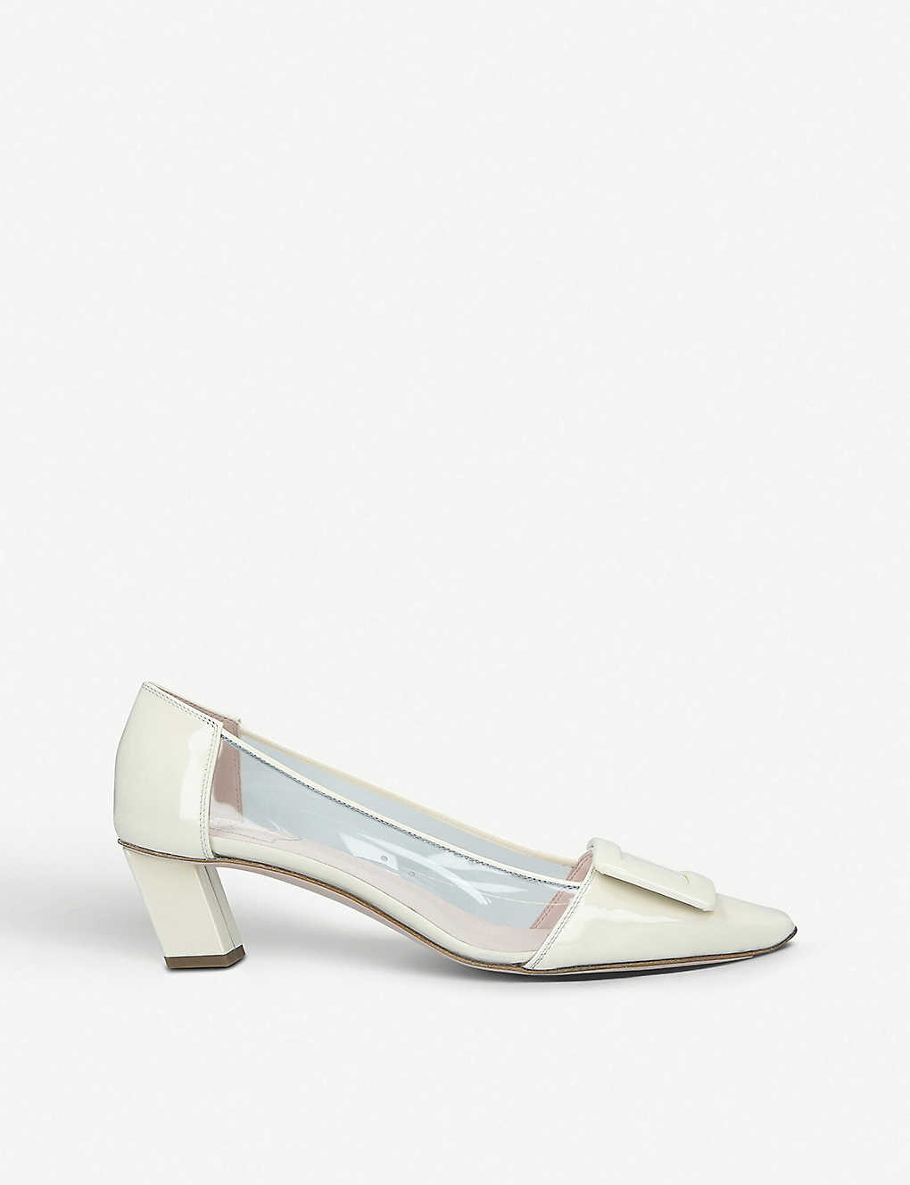 a1f398e95cb ROGER VIVIER - Belle Vivier patent leather and PVC courts ...