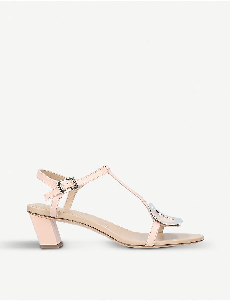 0b6c5bd05bdec7 ROGER VIVIER - Chips leather heeled sandals