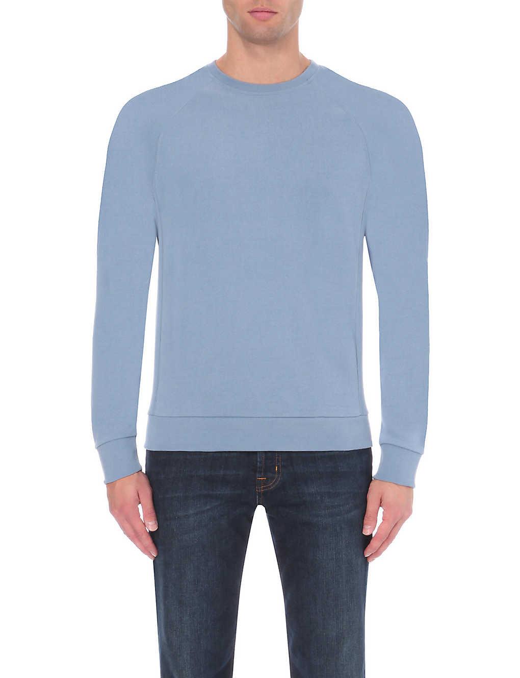 1a8a394303b REISS - Forge crew-neck cotton sweatshirt