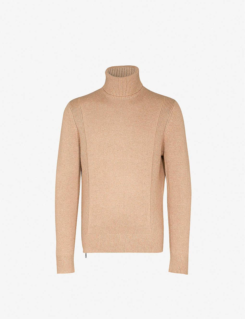 6e4dcced9 REISS - Ashbourne turtleneck waffle-knit sweater