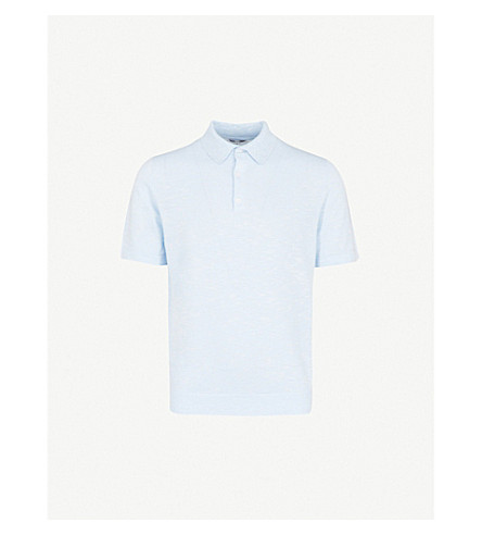REISS - Knitted polo shirt  7725a03b1af8