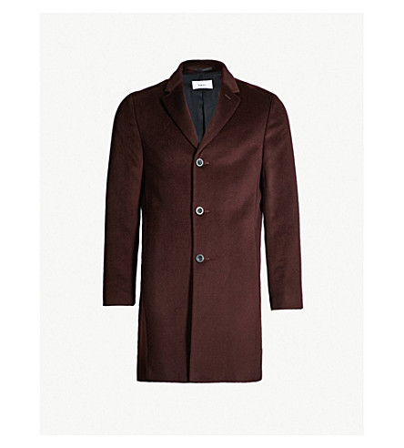 0419ea82ecf ... single-breasted wool overcoat (Bordeaux. PreviousNext