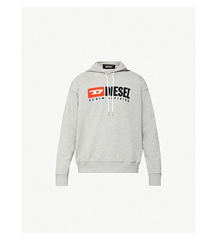 S Division Cotton Jersey Hoodie by Diesel