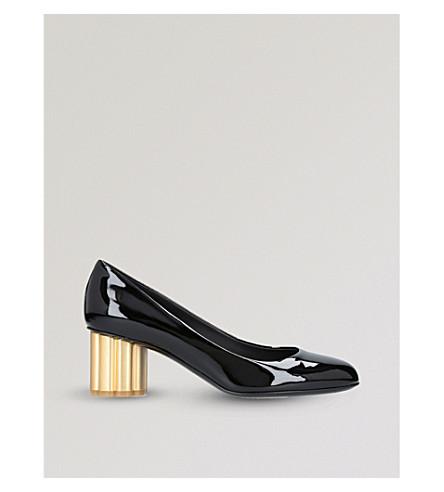 c547d4f1f378 ... SALVATORE FERRAGAMO Lucca 55 patent-leather heeled courts (Black.  PreviousNext