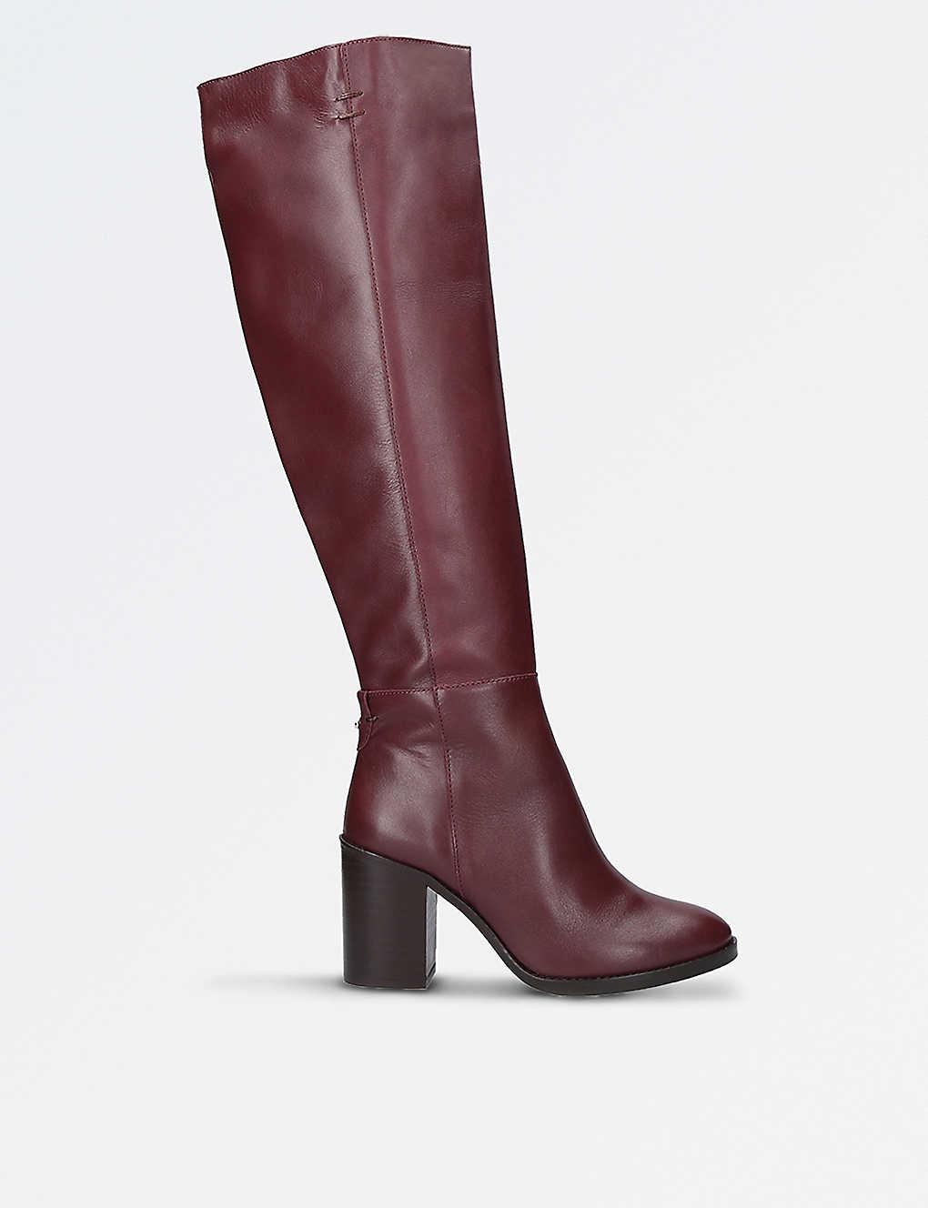4b2fd6606f1 KURT GEIGER LONDON - Dora leather knee-high boots