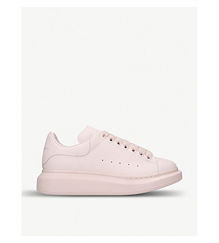 194c2cf46f0230 ... ALEXANDER MCQUEEN Runway leather trainers (Pale+pink. PreviousNext