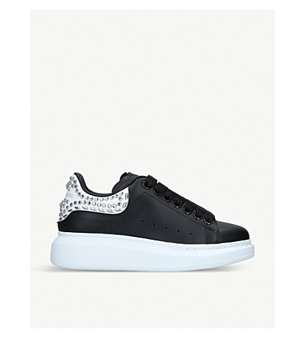 1ca2bef966f607 ... ALEXANDER MCQUEEN Runway stud-detail leather trainers (Blk white.  PreviousNext