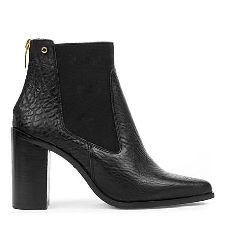 06c554e0c444 ... KURT GEIGER LONDON Dellow grained-leather heeled ankle boots (Black.  PreviousNext