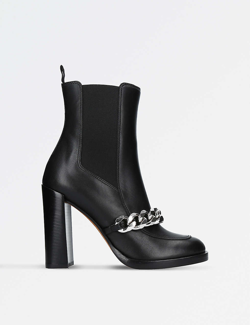 GIVENCHY - Laura chain-trimmed leather heeled ankle boots ... 72df5de6c