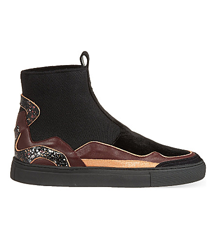 89d06f8db5d ... DRIES VAN NOTEN Probasis high-top sneakers (Blk other. PreviousNext