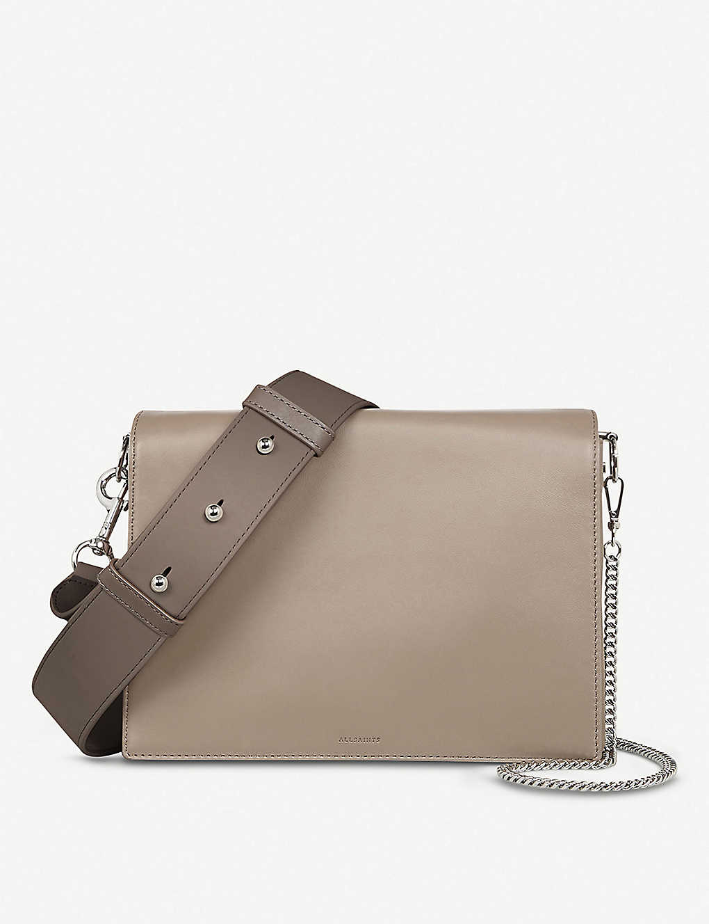 ba73100622c4 ALLSAINTS - Leather Zep cross body box bag