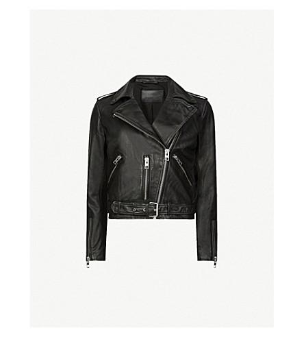 ... ALLSAINTS Balfern leather biker jacket (Black. PreviousNext 13f5cec61f0