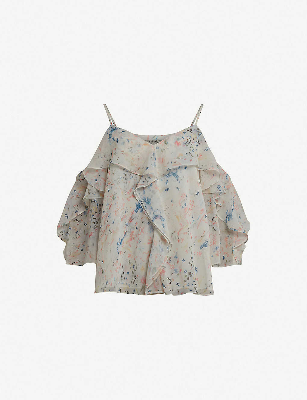 d03d0385cae3e9 ALLSAINTS - Jasmine Juni crepe cold-shoulder top
