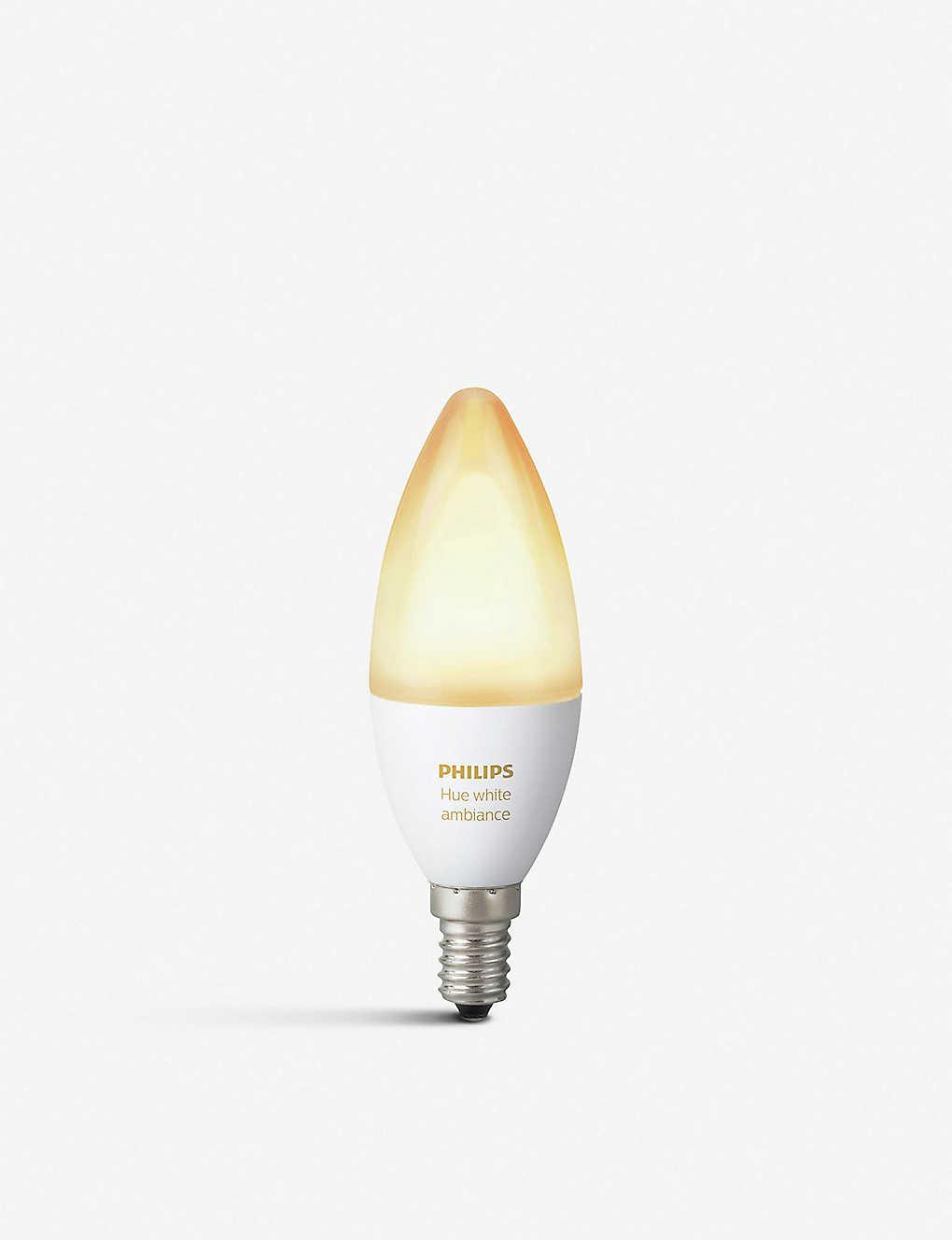 Philips Hue Lampen E14.Philips Hue White Ambiance Smart Led E14 Bulb Selfridges Com