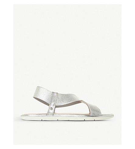 0bd5cab00f6 DUNE - Linke metallic cross-strap sandals