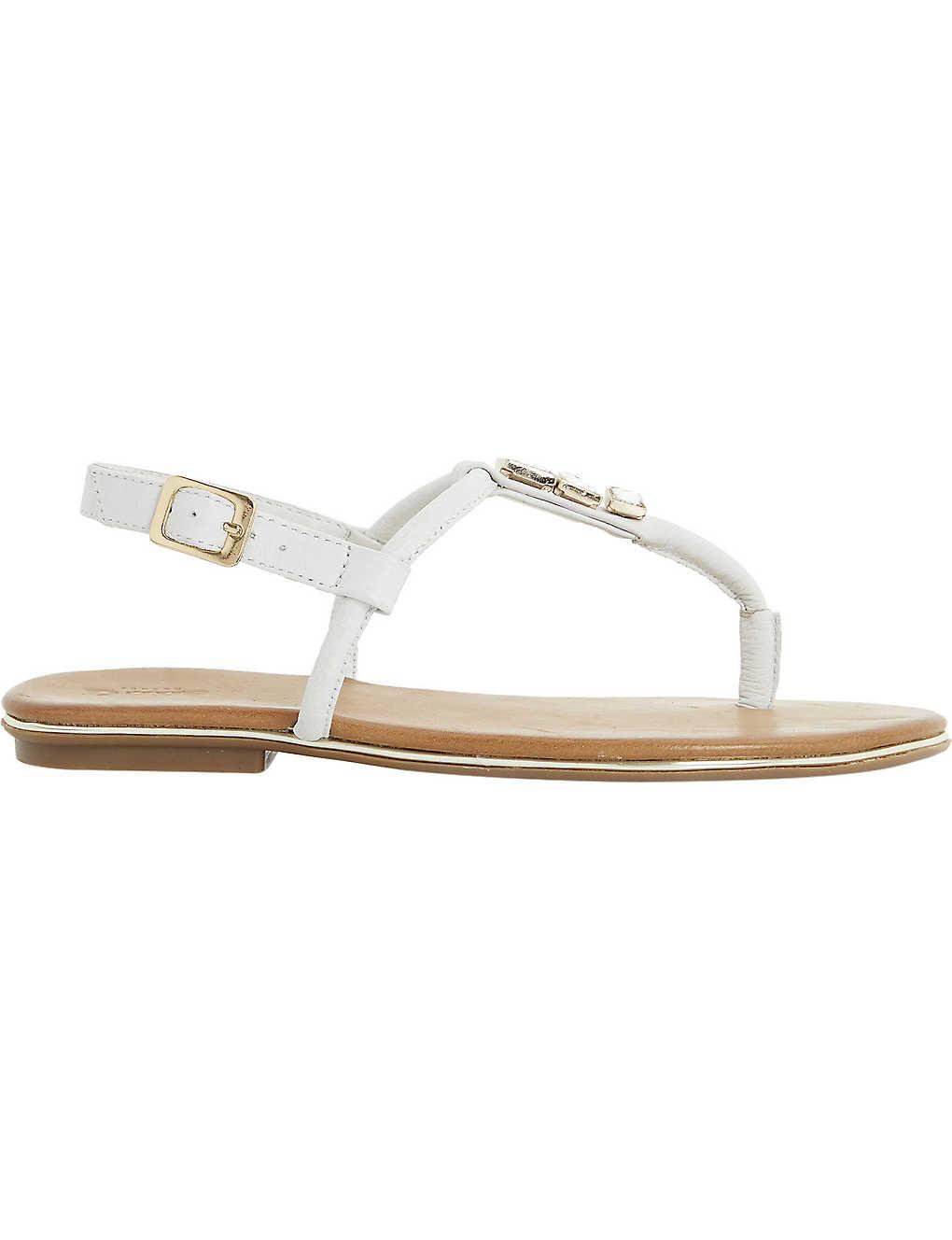 8b5d145b52d498 DUNE - Lilypad jewelled t-bar leather sandals