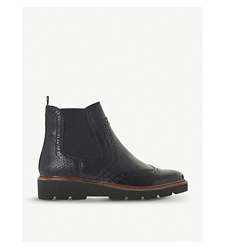 d3b9fab53e ... leather chelsea boots (Navy. PreviousNext