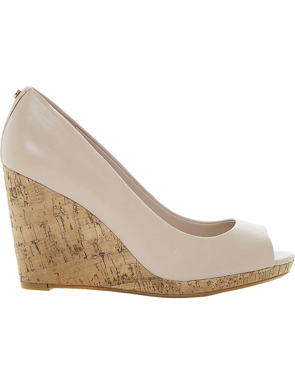 aecce8c931ed DUNE - Celia cork-wedge court shoes