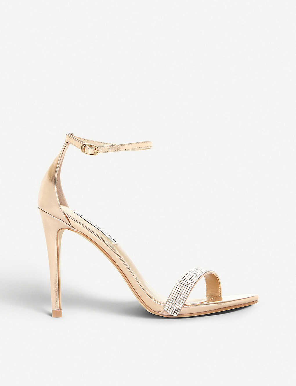 feafcb5cbc5 STEVE MADDEN - Stecy metallic faux-leather and diamanté sandals ...