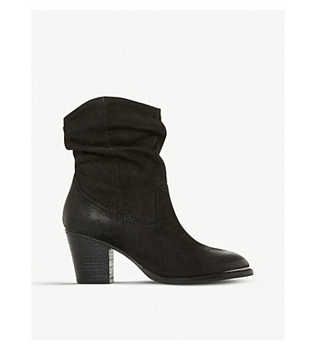 3e1a09e2964 ... STEVE MADDEN Olya ruched leather ankle boots (Black. PreviousNext