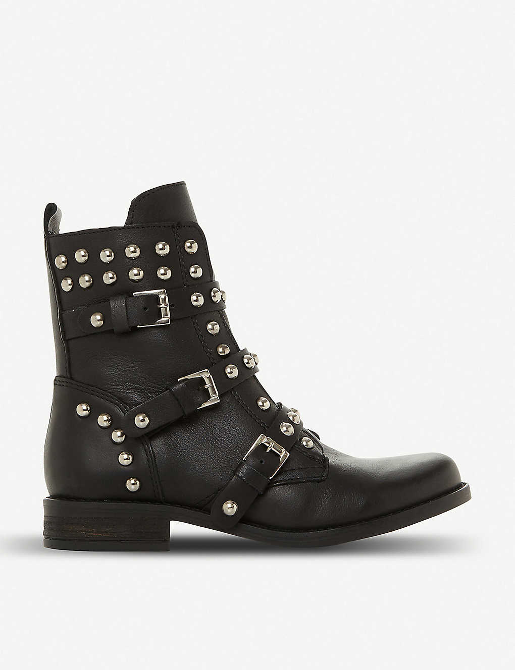 Steve Madden Spunky Stud And Zipper Detail Leather Boots