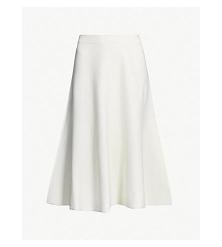 Amy Fluted Hem Knit Skirt by Reiss