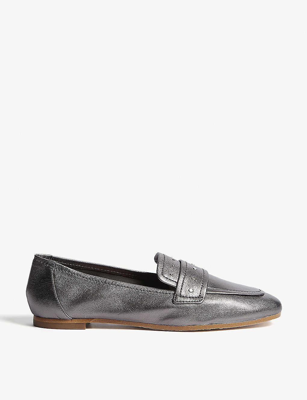 a8216bfb922 REISS - Elba metallic leather loafers