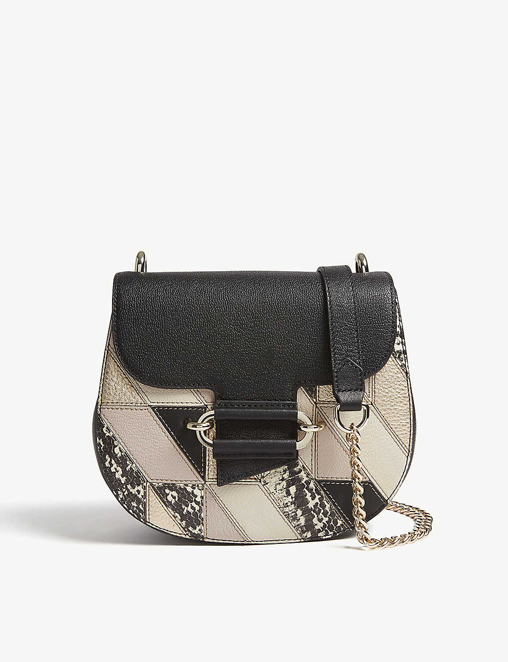 39885bced7b7 REISS - Maltby patchwork leather cross-body bag